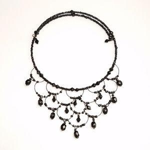 Jewelry - Delicate Black Gothic Chandelier Bib Necklace